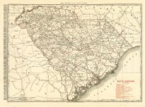 South Carolina 1900 Railroad Map 24x32, South Carolina 1900 Railroad Map